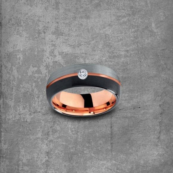 Modern Metal Jewelry Other - Rose Gold Ring: Diamond Ring|Tungsten Diamond Ring